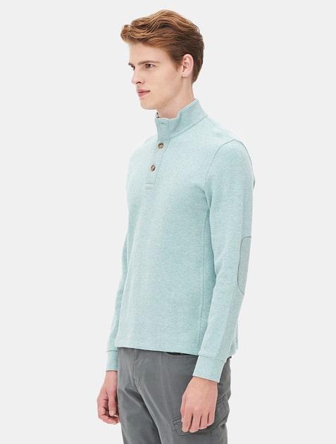 Beanpole men hidden button long sleeve collar t shirt for Hidden button down collar shirts