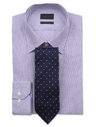 [빨질레리] SLIM 바이올렛 펜슬 스트라이프 드레스셔츠(MA5964021S)