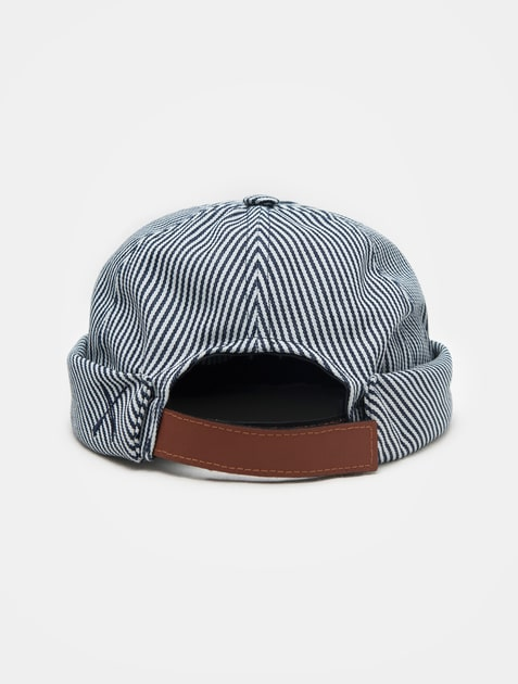 beton cire casquette stripe navy 11street malaysia hats caps. Black Bedroom Furniture Sets. Home Design Ideas