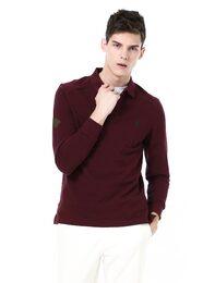 [TRADITIONAL FIT][5컬러]와인 어깨 퀼팅 배색 피케 티셔츠
