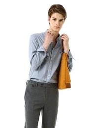 [SLIM]스카이 블루 마이크로 하운드투스 셔츠