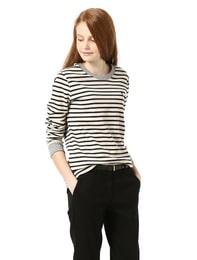 네이비 스트라이프 긴팔 티셔츠