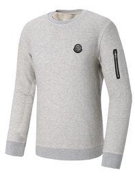 그레이 남성 와플조직 맨투맨 티셔츠