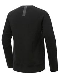 블랙 남성 라이딩 테이프 맨투맨 티셔츠