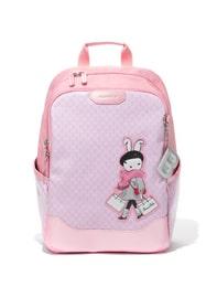 알리샤 로고 패턴 핑크 빙키 토끼 백팩