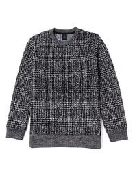 블랙 체크 맨투맨 티셔츠(MK58410065)