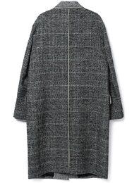 Mix transform Check Coat(Black)