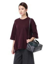 Three-Quarter Sleeve Loose Fit T-shirts(Wine)