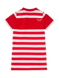 [HEART FOR EYE] Stripe One-piece for Kids (Red)
