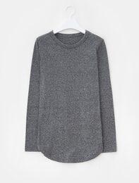 Solid Cotton Blend T-Shirt (Grey)
