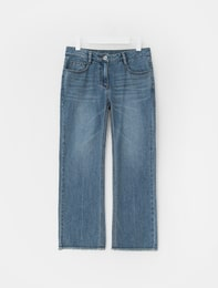 Boots Cut Denim Pants (Blue)