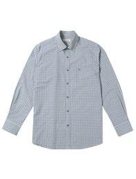 블루 깅엄 체크 셔츠(RY5164007P)