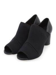 Neoprene Toe Open Shoes (Black)