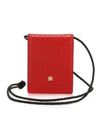 KAKI NECKLACE CARD CASE (Red)