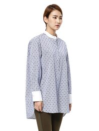 Cotton Dobby Stripe Shirt(Blue)