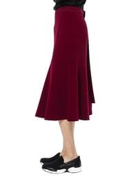 Drape Detail Skirt(RED)
