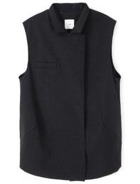 Double Snap Vest(Black)