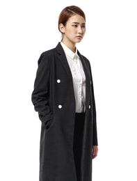 [Edit] Melange Wool-Twill Two Button Coat(Ash)