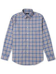 블루 체크 셔츠(GC5964002P)